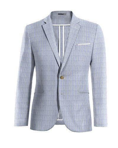 Blue striped seersucker Blazer - http://www.tailor4less.com/en-us/men/blazers/3280-blue-striped-seersucker-blazer