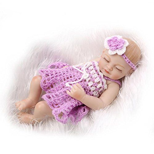 Baby Doll: SanyDoll 11 Silicone Doll Bath Toys Delicate and compact Lifelike New Baby Gift Boy and Girl -- Details can be found by clicking on the image.