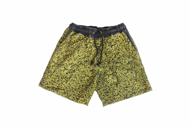 Crank The Noise Black & Yellow Walk Shorts