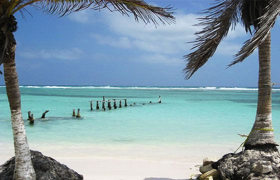 Mahahual, Quintana Roo, México. La playa más linda del caribe Mexicano.