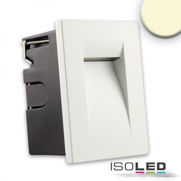 Isoled 112639 - LED Einbauleuchte IP65, 3W, warmweiß, weiß   Wandeinbauleuchten   Wandleuchten   Außenbeleuchtung   Lampen Kontor