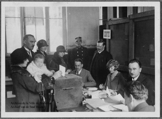 Elections communales, Ville de Bruxelles 1926 - Gemeenteraadsverkiezingen Stad Brussel 1926 - Municipal elections City of Brussels 1926 © Archives de la Ville de Bruxelles