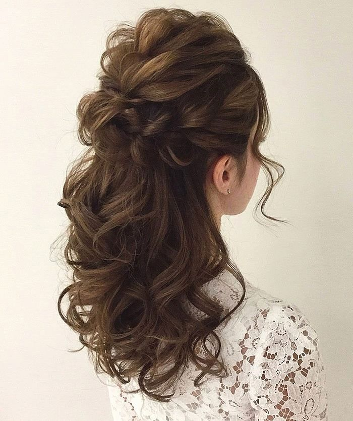 up style hair gorgeous half up half hairstyles curly hairstyles 5703