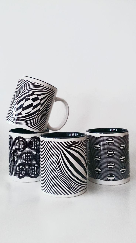 fekete illúzió bögrék/ black illusion mug www.dekorozmar.hu