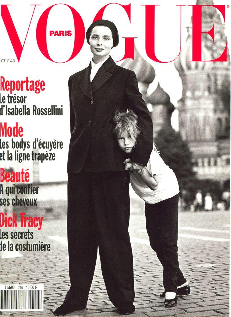 Vogue Paris October 1990 - Isabella Rossellini