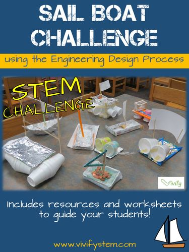 The Sailboat STEM activity is a great way to incorporate the engineering design process into your classroom!                                                                                                                                                      More