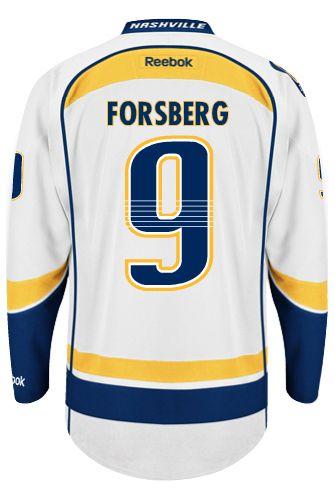 969519d4 ... 2017 Jersey de Nashville Predators Filip FORSBERG 9 Official Away  Reebok Premier Replica NHL Hockey Jersey (HAND .