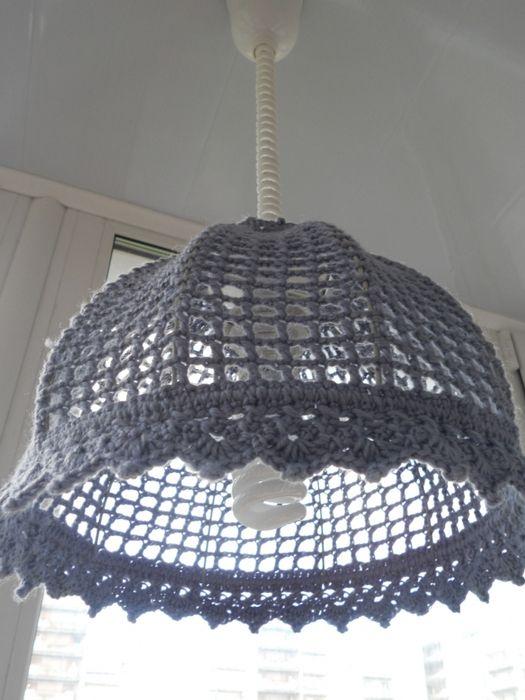 TRICO y CROCHET-madona-mía: LAMPARAS COLGANTES- hechas de hilos o crochet,