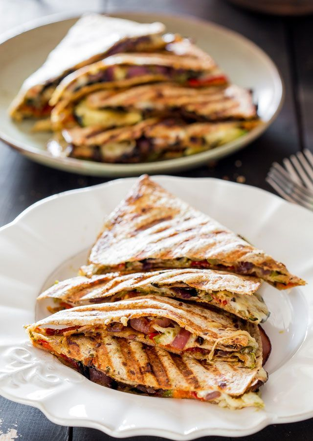 Check out Grilled Vegetable Quesadillas. It's so easy to ...