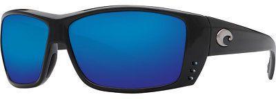 Costa Cat Cay 400G Sunglasses - Polarized Black/Blue Mirror One Size