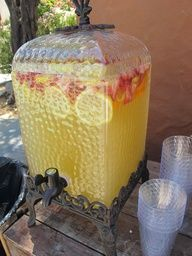 White Wine Sangria for a Crowd. Lightly sweet, with a fruity citrus fizz, this cocktail was a huge hit with the wedding guests.