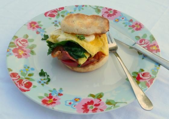 Mother's Day Spinach & Bacon Omelette Muffin