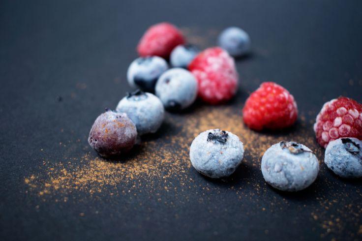 raspberry, blueberry, food styling