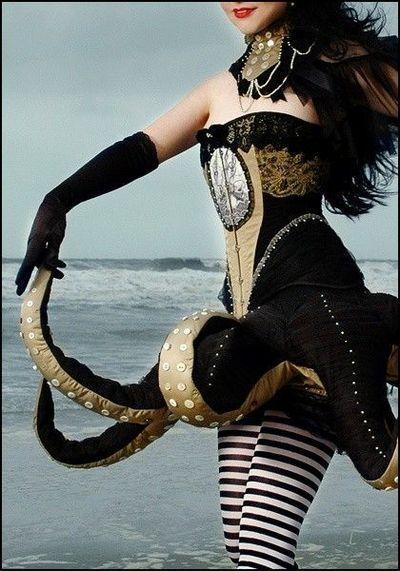 cool octopus idea - #kostüm, #karneval, #costume, #idea, #idee, #inspiration, #makeup, #hair, #dressing, #schminken, #fasching, #maske, #verkleidung, #party,