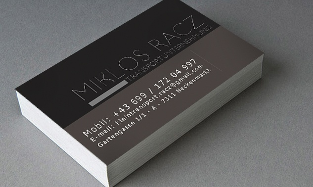 namecard design black/grey texture