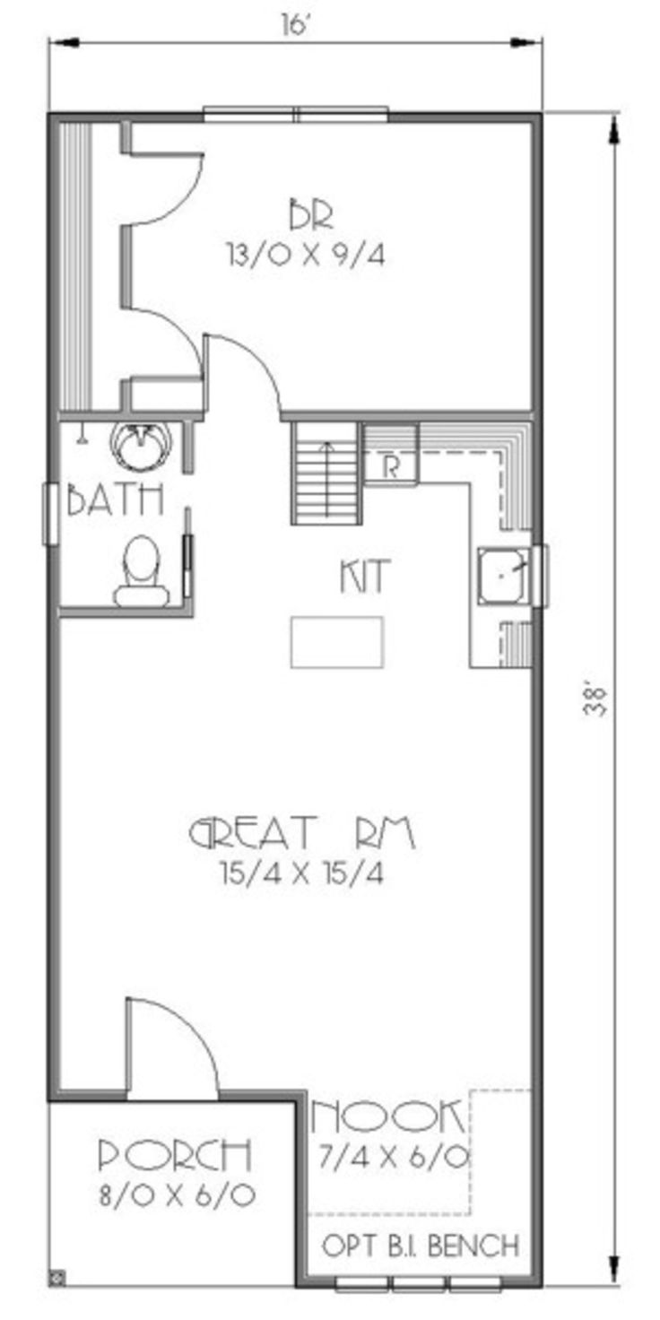 Main Floor Cabin floor plans, Tiny house plans, 16x32
