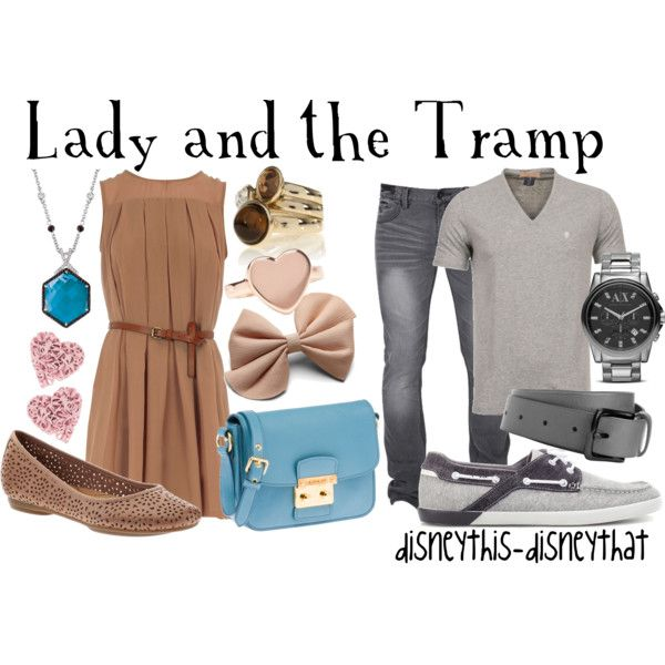 ADORABLE Lady and the Tramp couple outfits. :D  I wish I had a boyfriend who would go on a date to an Italian restaurant with me with us wearing these outfits. XD <3