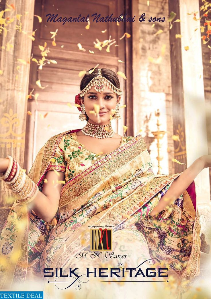 The Silk Heritage of India! The Glimpsis of Reach Indian Heritage! Shop Now MN Silk Heritage Bridal Ethnic Indian Sarees Catalog Collection at Best Rate #EthnicSarees #BridalsCollection #TextileDeal #SilkSarees