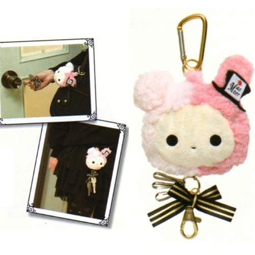 San-X Sentimental Circus Retractable Key Chain with Caribiner: Shappo The Ring Master