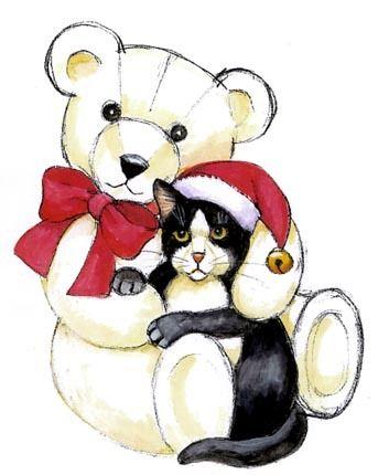 Teddy and Cat ~*~ Stephanie Stouffer