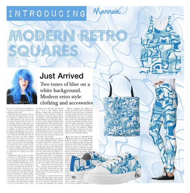 """Modern Retro Squares"" by mannzie on Polyvore featuring modern and retro"