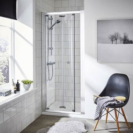 ella bifold folding shower door various size options