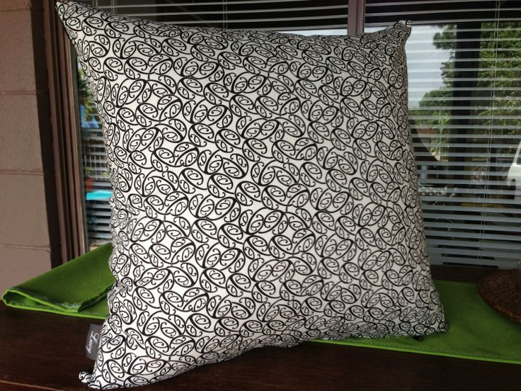 Manaia black&white design fabric By lucy