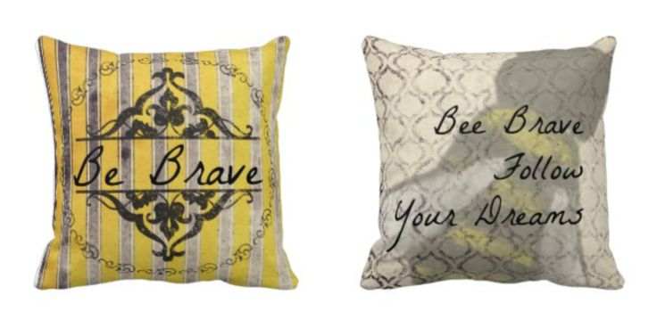 Be brave follow your dreams throw pillow | illustration by 10 yr old, Noah.