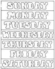 Resultado de imagem para days of the week activities