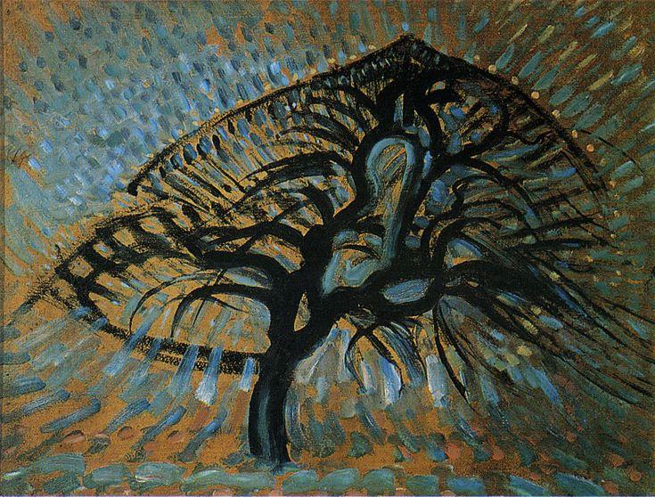 Piet Mondriaan | Apple Tree, Pointillist Version, 1908-09 | 56.8 x 75 cm Oil on composition board  Dallas Museum of Art.