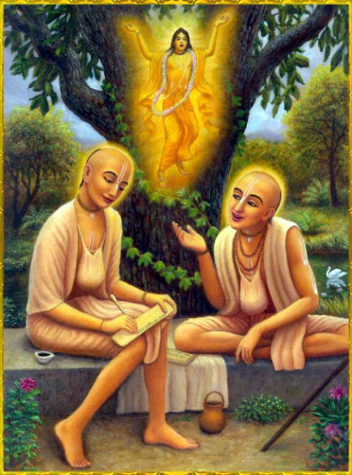 "✨ RUPA & SANATANA GOSWAMIS ✨""One who chants the holy name of the Lord is immediately freed from the reactions of unlimited sins, even if he chants indirectly [to indicate something else], jokingly, for musical entertainment, or even neglectfully. This is accepted by all the learned scholars of the scriptures.""~Srimad Bhagavatam 6.2.14"