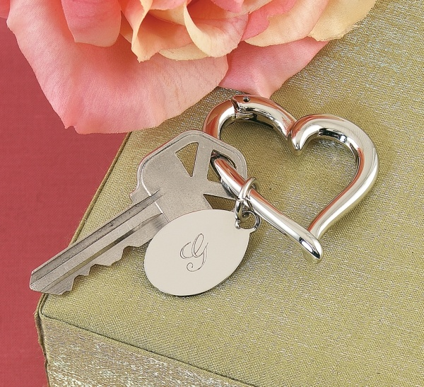 Heart Key Ring w/Oval Charm: $15.95 #Bridesmaid #Wedding