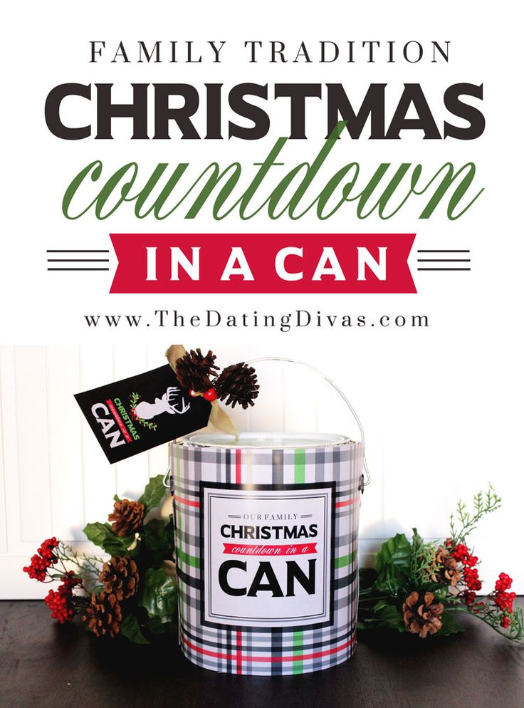 FREE printables to make your own Christmas Countdown in a Can! Perfect for the 12 Days of Christmas!! Make some treasured family memories.