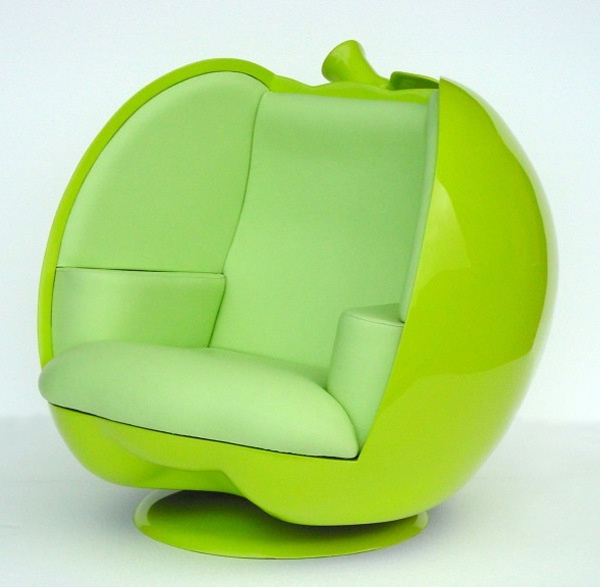 Green Apple pod chair would look great in dollhouse miniature scale