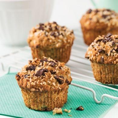 Muffins aux bananes et chocolat sans gluten - Recettes - Cuisine et nutrition - Pratico Pratique