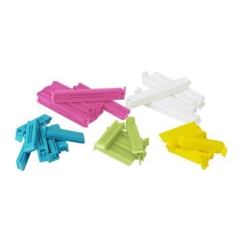 IKEA Sealing Clips BEVARA, 30 pieces, 6cm / 11cm Ikea http://www.amazon.co.uk/dp/B00C3KLIEM/ref=cm_sw_r_pi_dp_L8liwb158E19K