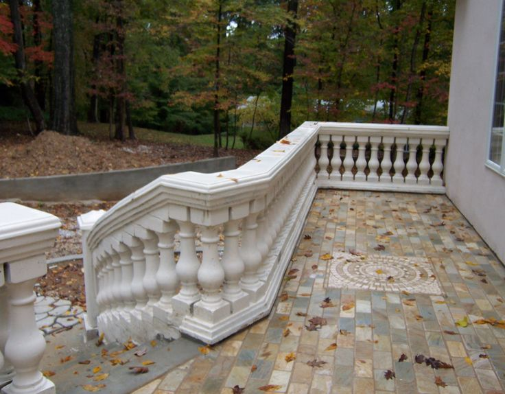 Make your own old world style balusters and railing with molds (make them white, stained or natural concrete color)– History Stones