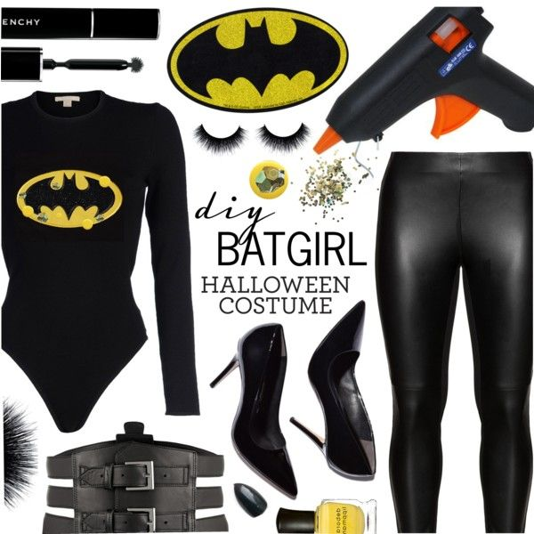 DIY Batgirl Halloween Costume by pastelneon on Polyvore featuring polyvore, fashion, style, Michael Kors, Studio, Kiki de Montparnasse, Givenchy, Deborah Lippmann, Topshop and clothing