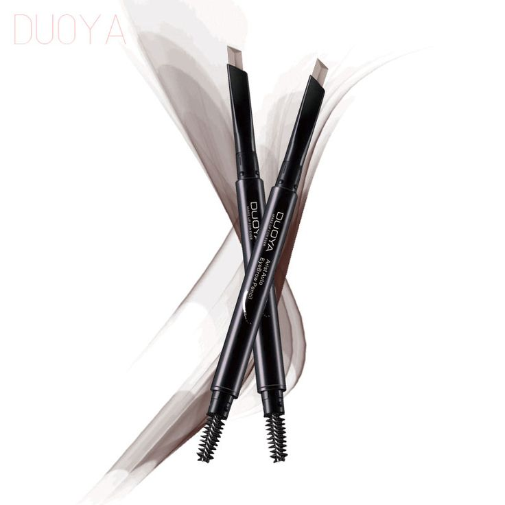DUOYA 4 Color Automatic Eyebrow Pencil Makeup Paint For Eyebrows Waterproof Permanent Eye Brow With Brush Dark Brown