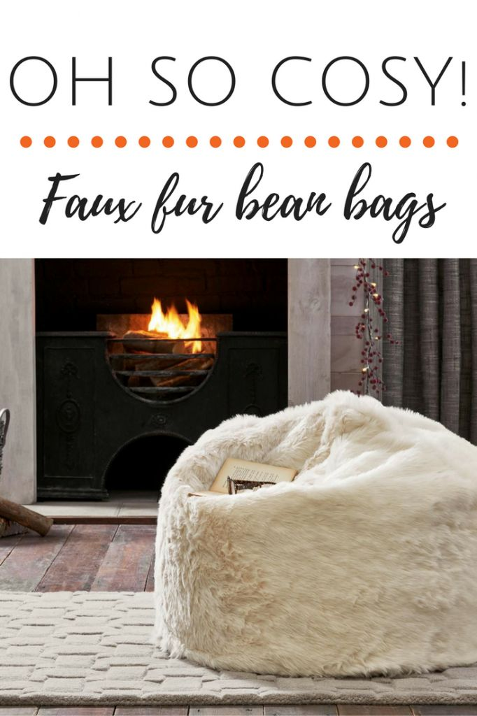 Oh my, doesn't this faux fur bean bag look like gorgeous? I want to sink back into it and relax....zzzz.