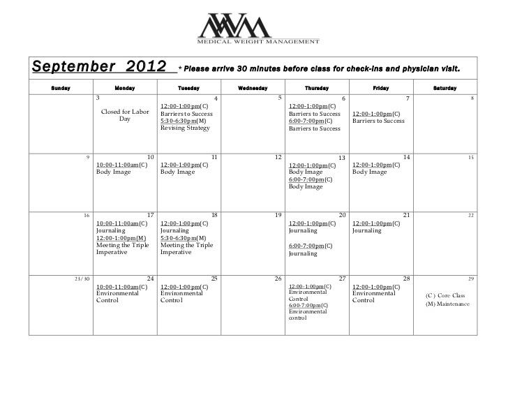dr-darm-class-calendar-september by Dr. Darm Aesthetic Medicine via Slideshare