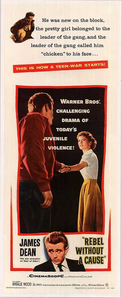 REBEL WITHOUT A CAUSE POSTER (1955)