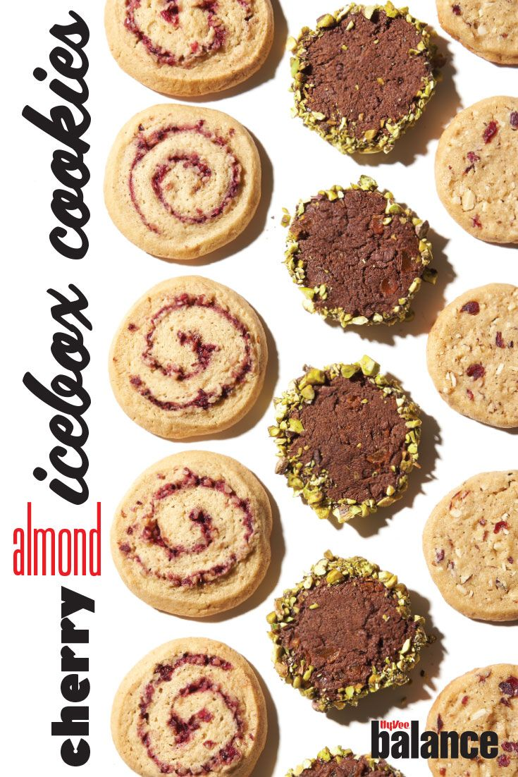 Gluten Free Cherry Almond Icebox Cookies