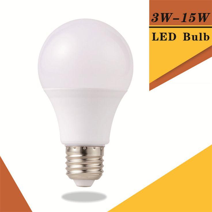 DIPIMPIN Bola Lampu E27 220 V-240 V Light Bulb SMD2835 Daya Nyata 3 W 5 W 7 W 9 W 12 W 15 W Kecerahan Tinggi Lampada DIPIMPIN Bombillas