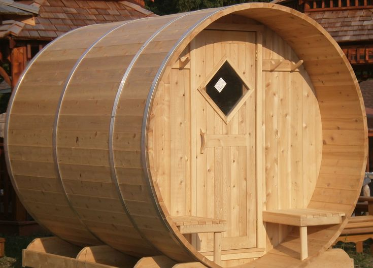 Cedar barrel sauna by Flamborough Patio