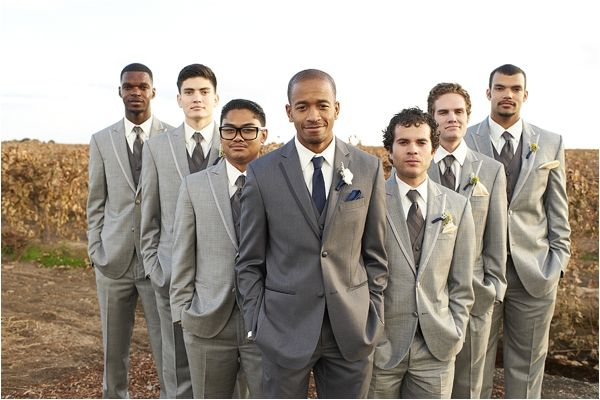 Love the idea of grey suits for the boys. I would probably add a punch of colour with the ties though...