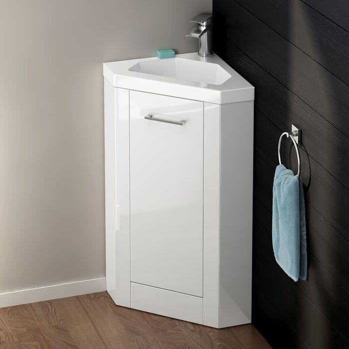 800mmx560mm Trent Corner Basin Cabinet Corner Storage Cabinet Bathroom Furniture Storage Cloakroom Basin Vanity Units