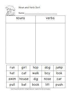 Splat, Parts of Speech, Balanced Equations Freebies