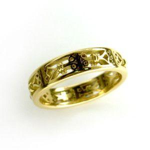 Ornate Design Ladies wedding band, in 18 carat yellow gold. #Wedding #Rings #Sydney #Yellow #Gold