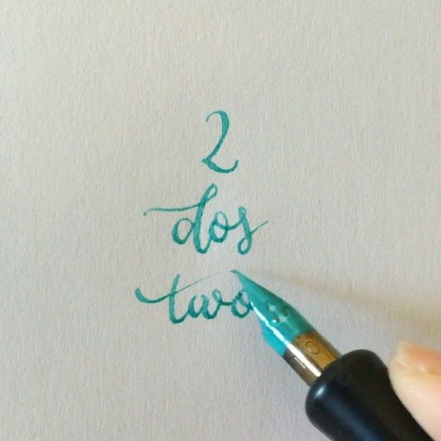 ✌ #readbetweentheletters #readbetweentheletters_2 #calligraphy #caligrafia #2 #uno #one #speedball #pluma #ink #speedballink #numbers #numeros #numberscalligraphy #caligrafianumeros